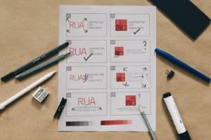 RUA logo design WIP