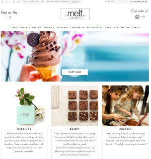 melt chocolates updated homepage